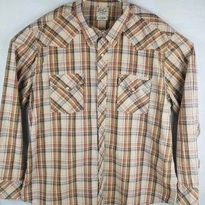 Lucky Brand Mens Long Sleeve Pearl Snap Button up